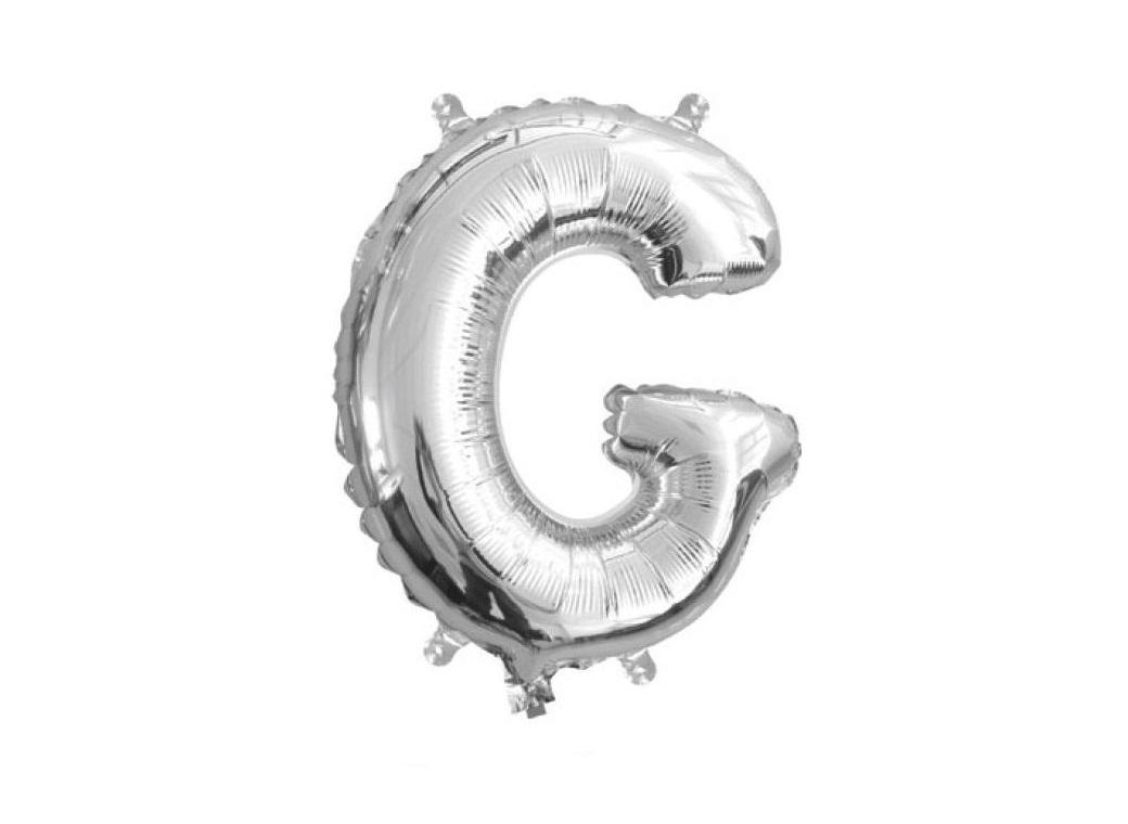 Mini Silver Foil Balloon - Letter G