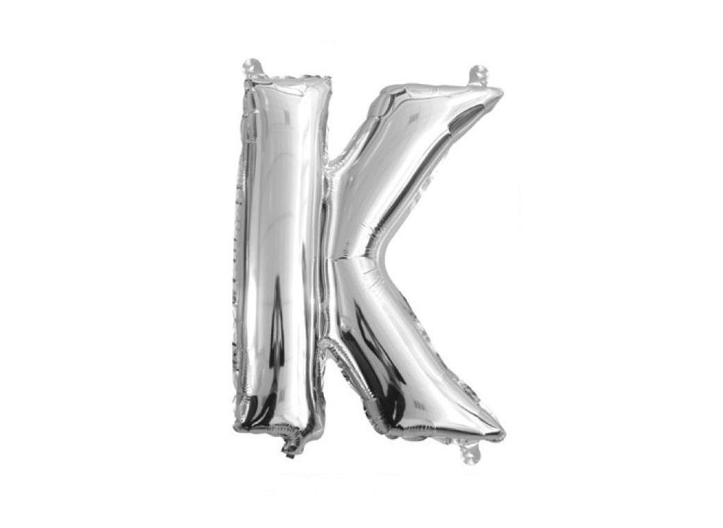 Mini Silver Foil Balloon - Letter K