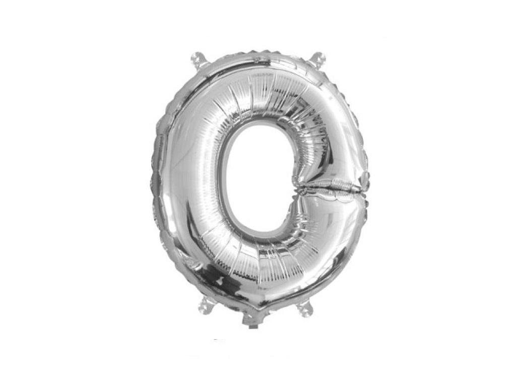 Mini Silver Foil Balloon - Letter O
