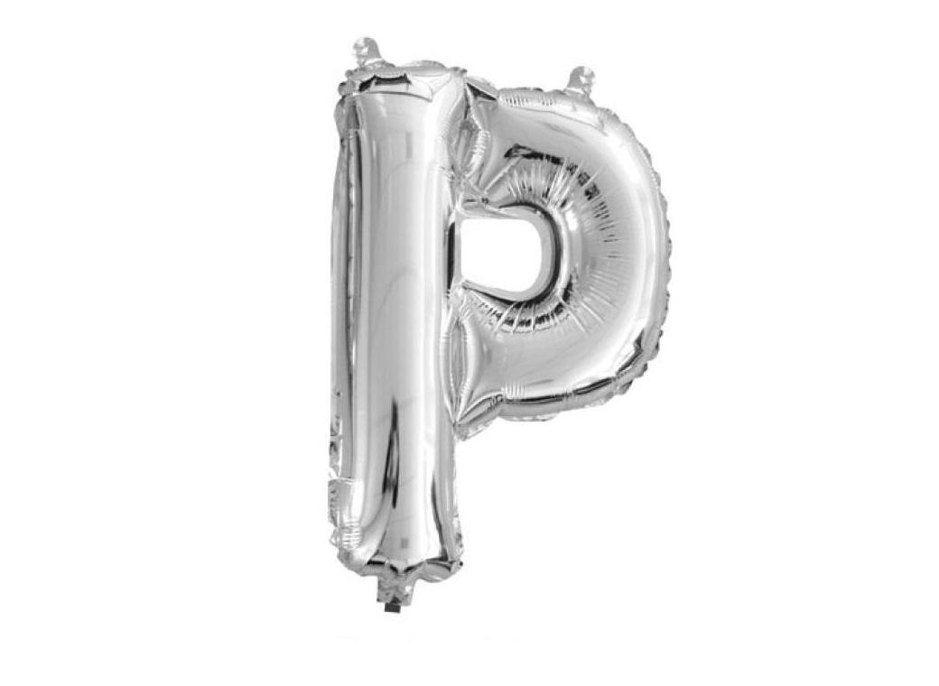 Mini Silver Foil Balloon - Letter P