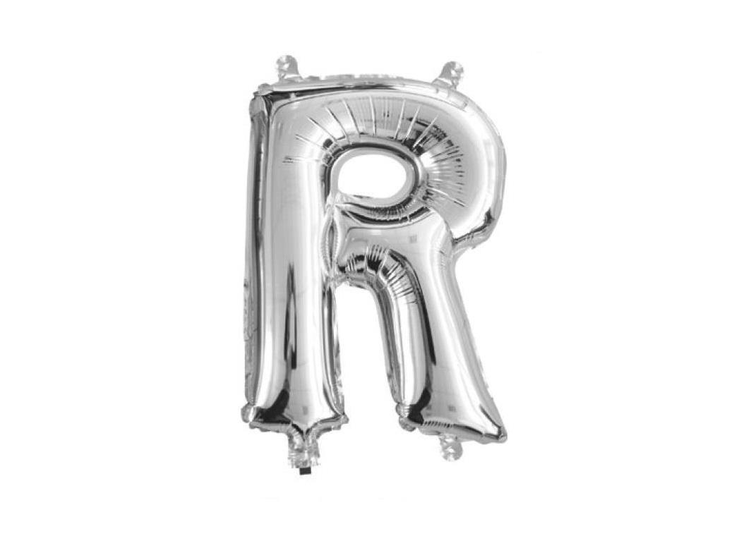 Mini Silver Foil Balloon - Letter R