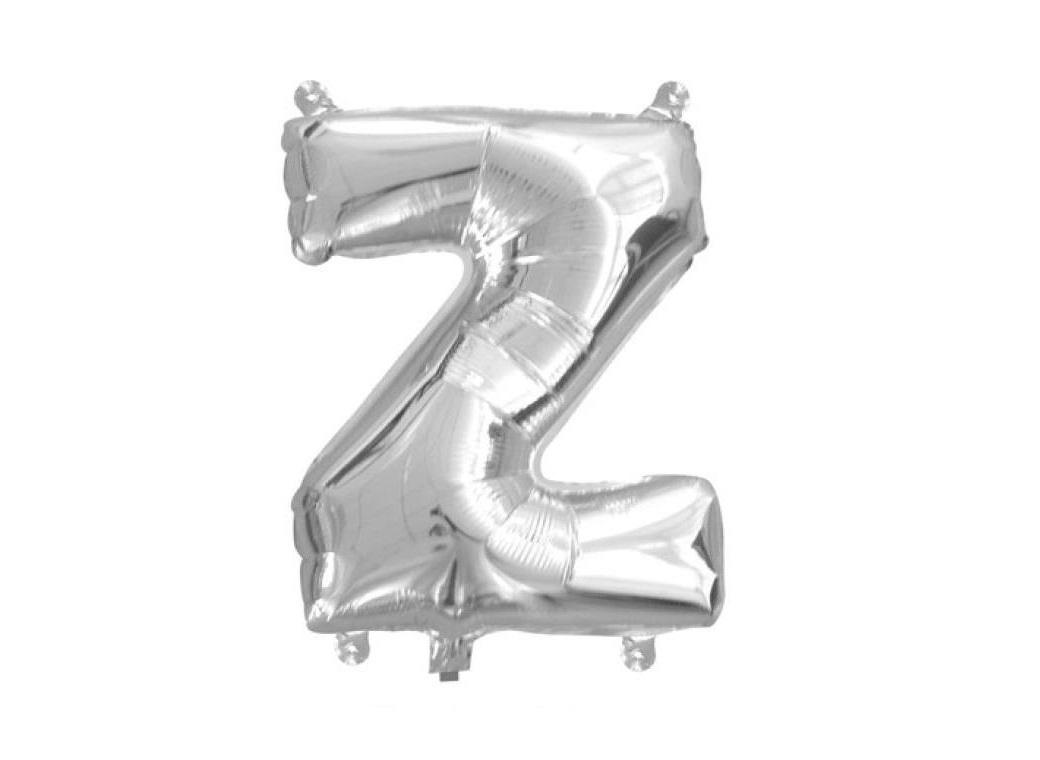 Mini Silver Foil Balloon - Letter Z
