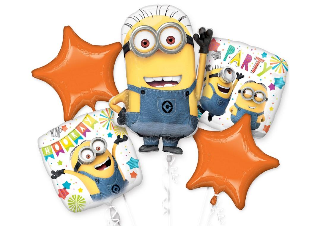 Minions Foil Balloon Bouquet
