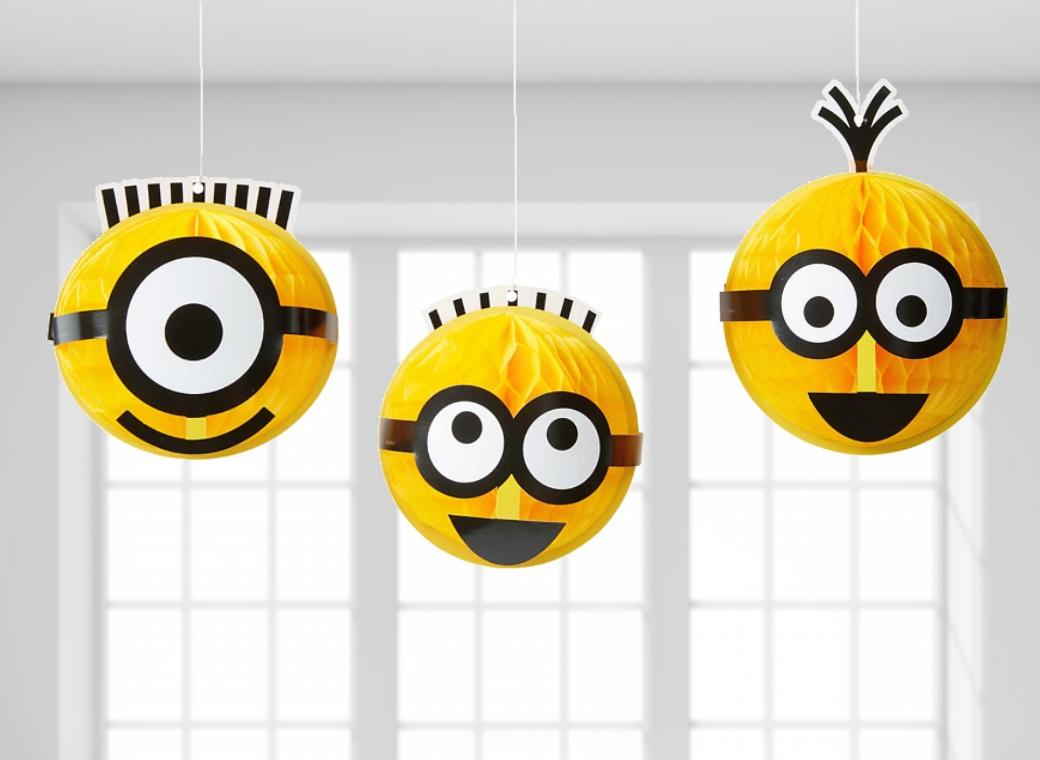 Minions Hanging Honeycomb Decorations