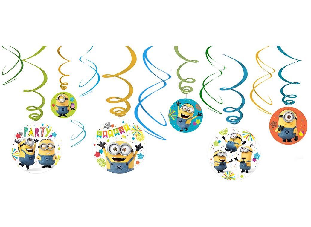 Minions Hanging Swirls Decorations