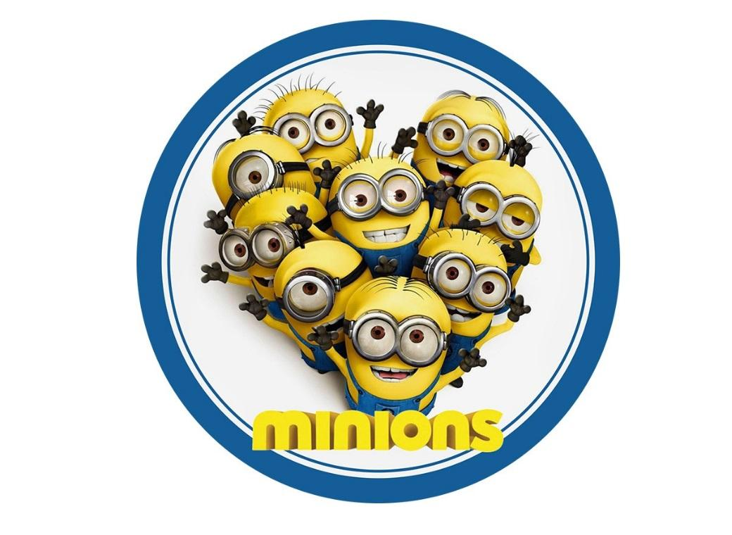 Edible Icing Image - Minions Round