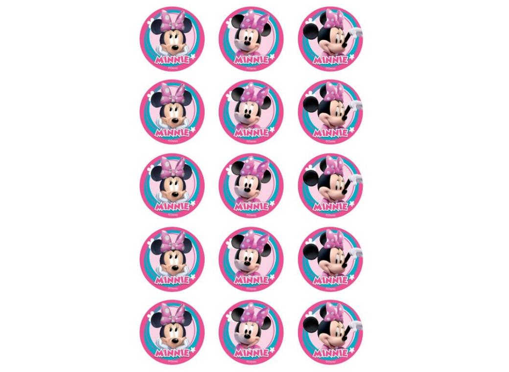 Edible Icing Cupcake Images - Minnie Mouse