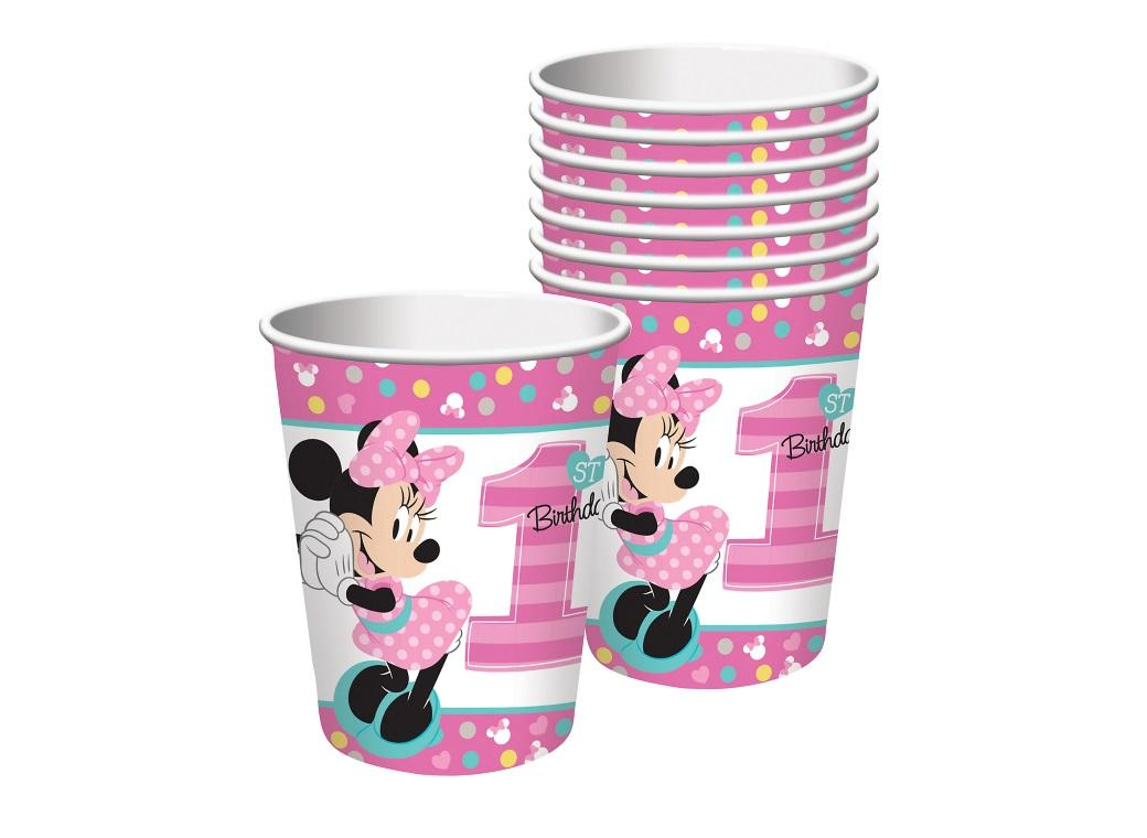 Minnie 1st Birthday Cups 8pk