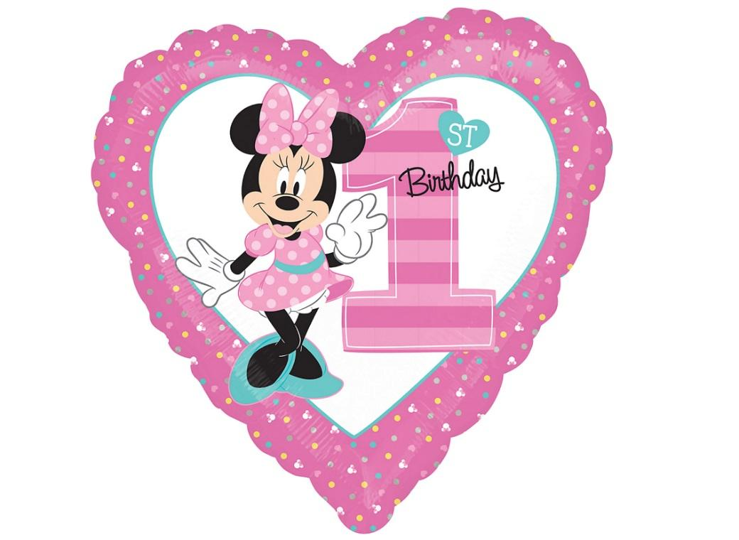 Minnie 1st Birthday Foil Balloon