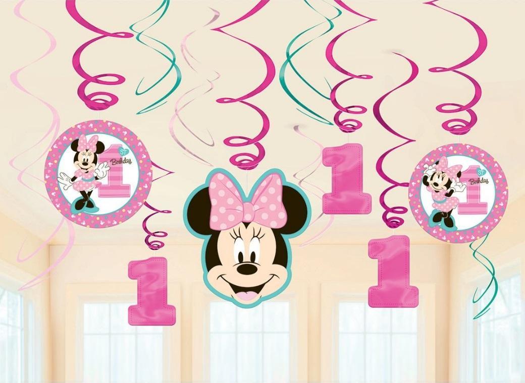 Minnie 1st Birthday Hanging Swirl Decorations