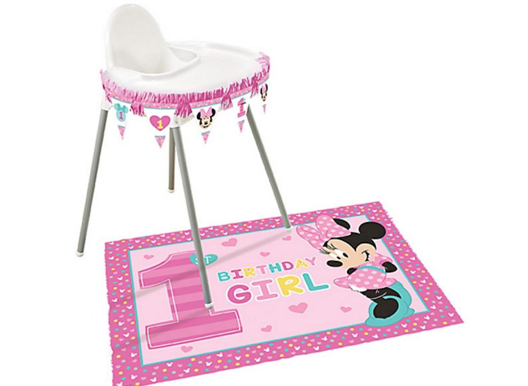 Minnie 1st Birthday Highchair Kit