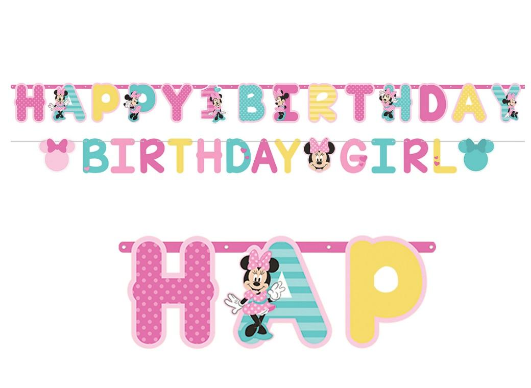 Minnie 1st Birthday Letter Banner