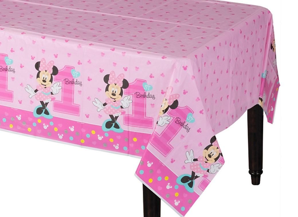 Minnie 1st Birthday Tablecover