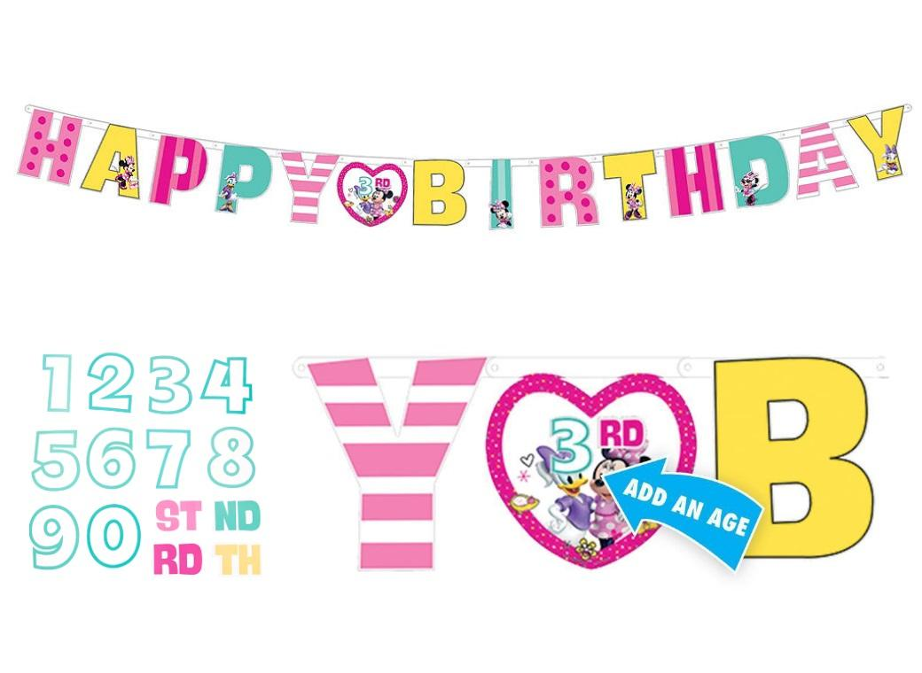 Minnie Mouse Add An Age Birthday Banner