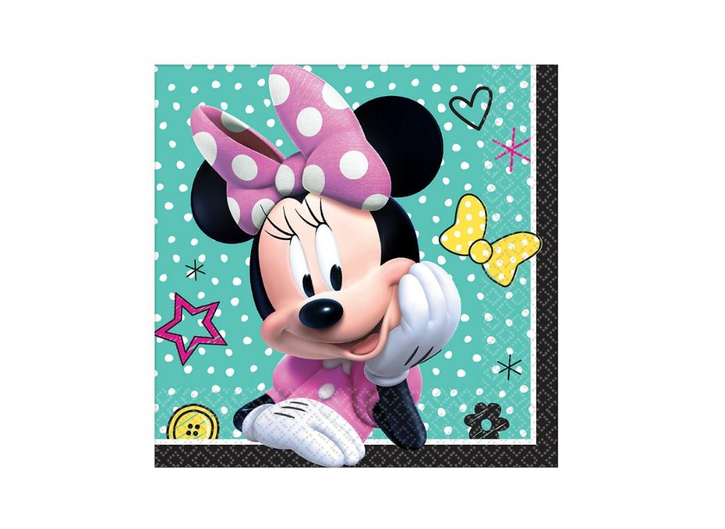 Minnie Mouse Beverage Napkins 16pk