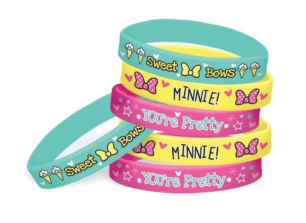 Minnie Mouse Bracelets 6pk