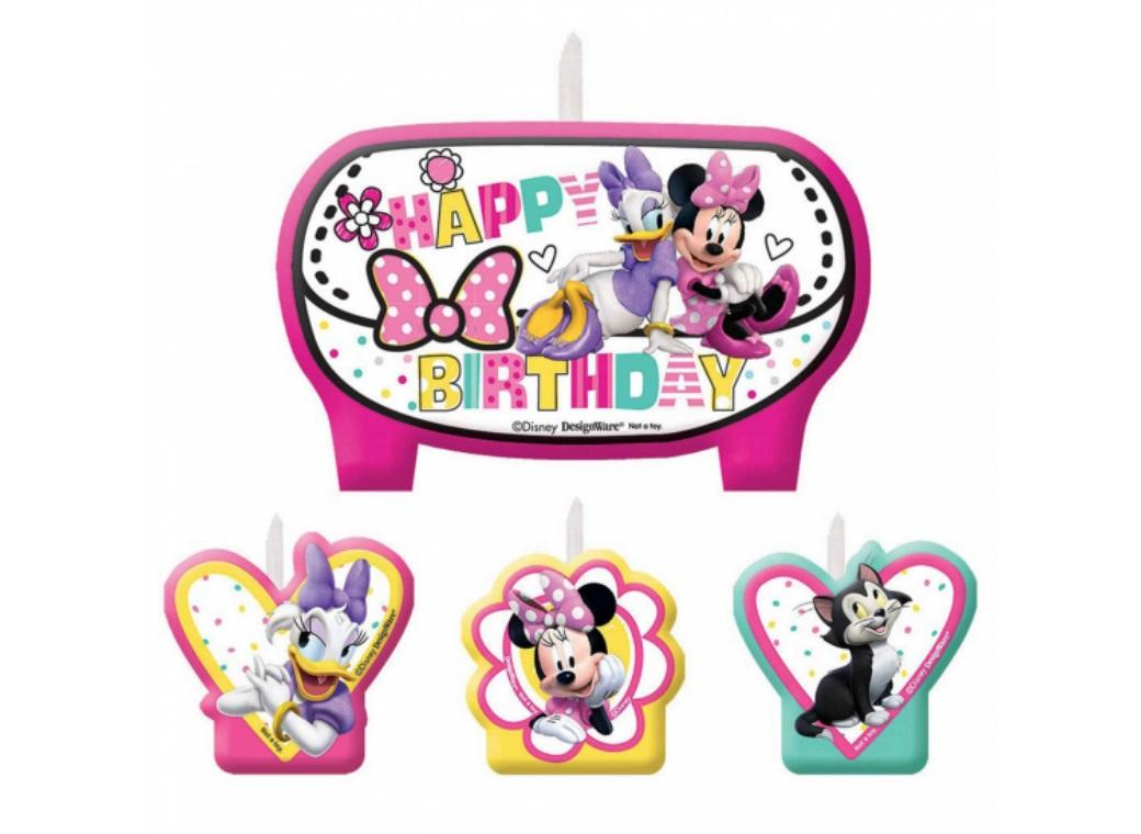 Minnie Mouse - Moulded Candles 4pk