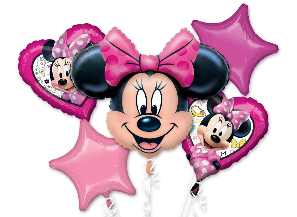 Minnie Mouse Foil Balloon Bouquet