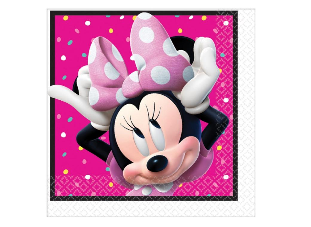 Minnie Mouse Lunch Napkins 16pk