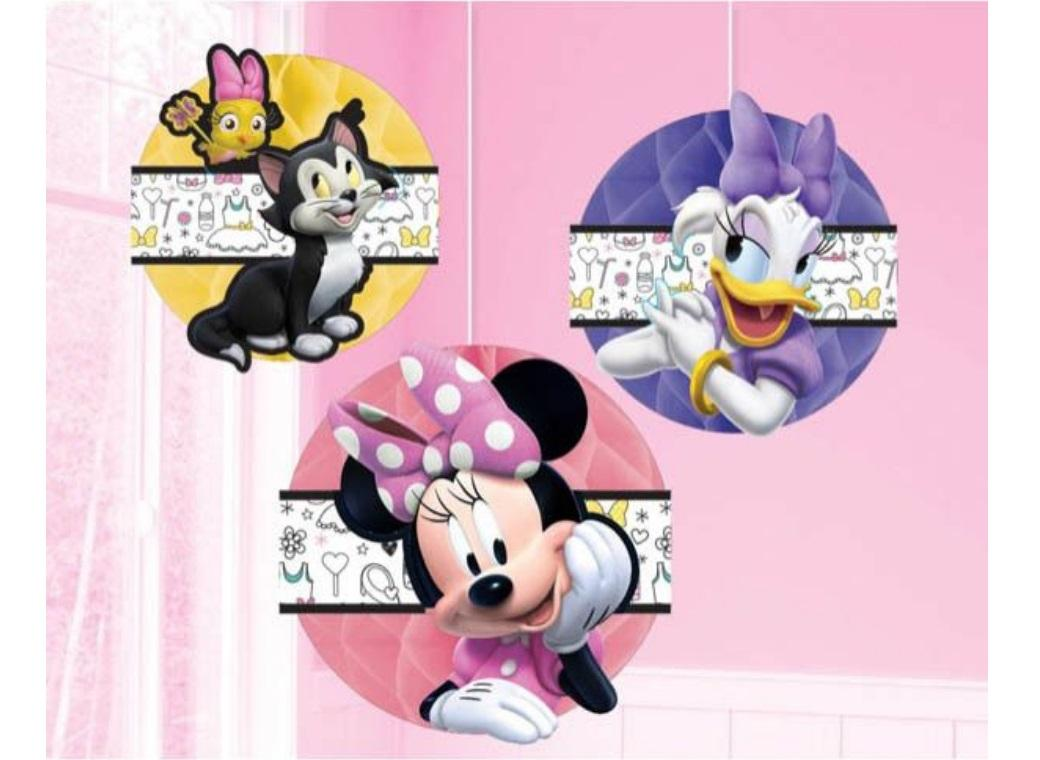 Minnie Happy Helpers Honeycomb Decorations