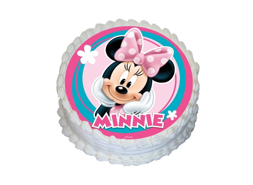Edible Icing Image - Minnie Mouse Round