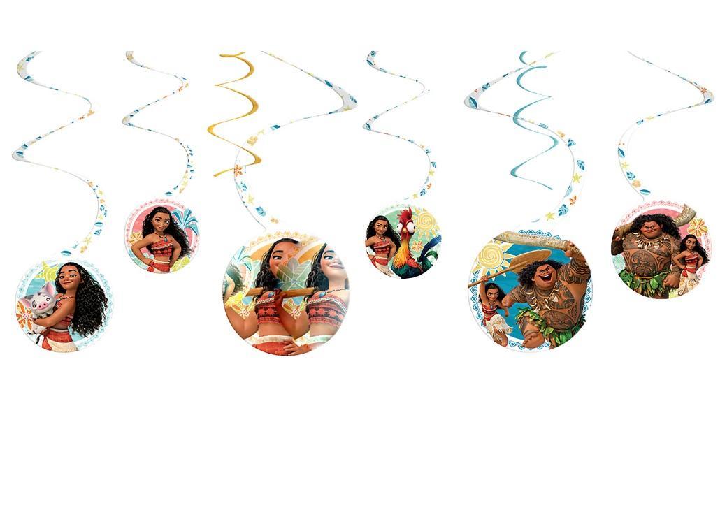 Moana Hanging Swirl Decorations