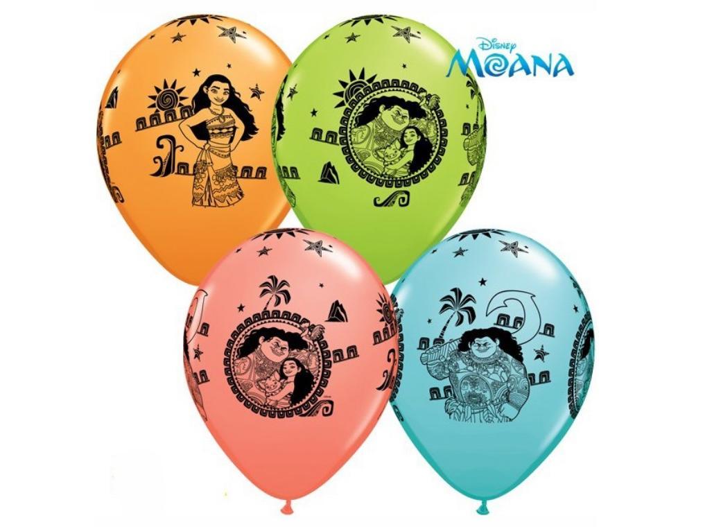 Moana Balloons 5pk