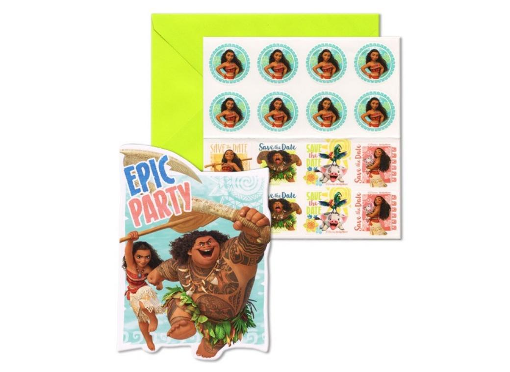 Moana Party Invites - 8pk