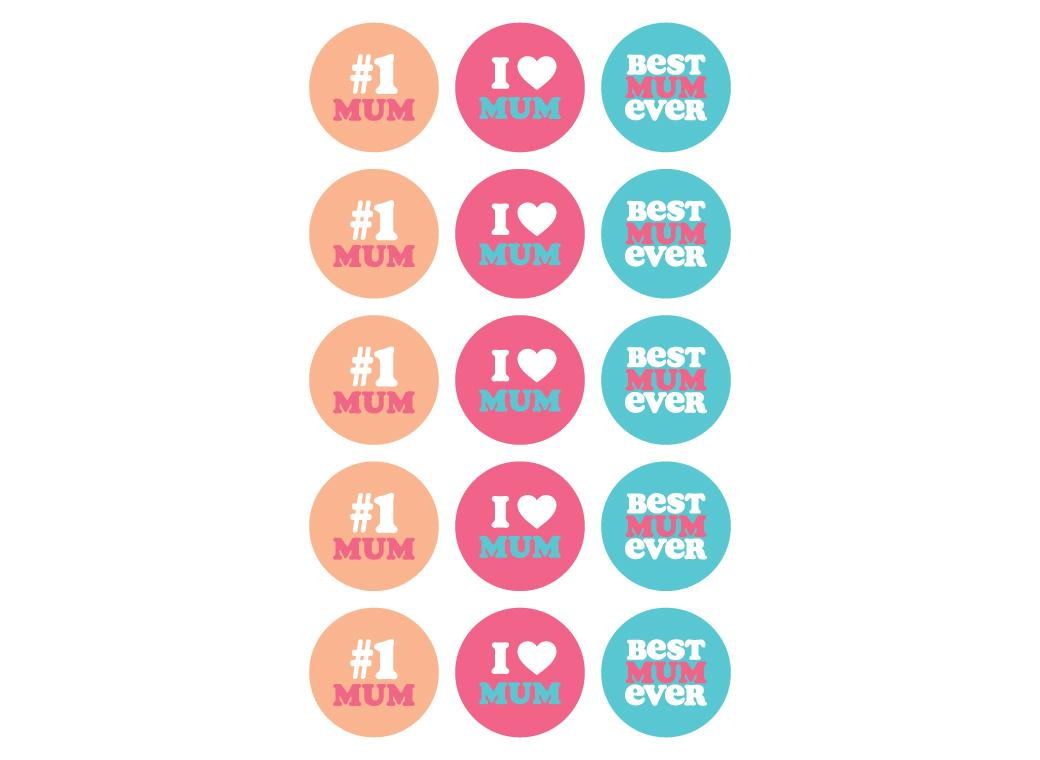 All About Mum Edible Cupcake Toppers