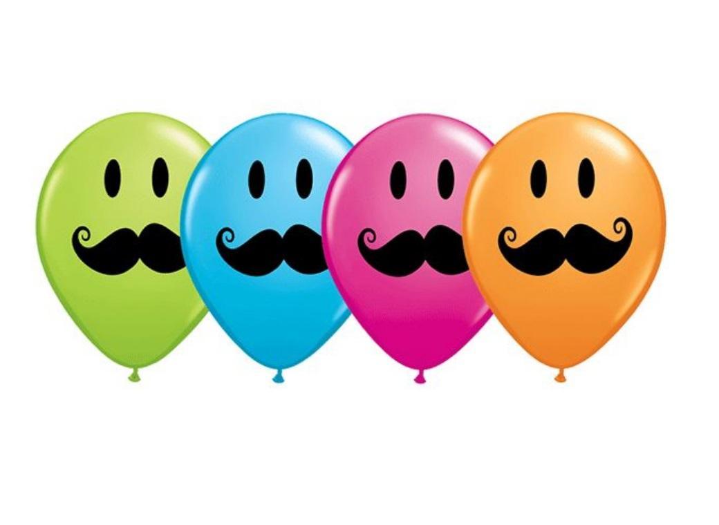 Moustache Balloons - 5pk