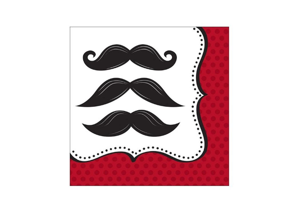 Moustache Madness - Lunch Napkins