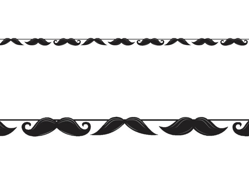 Moustache Madness - Ribbon Banner