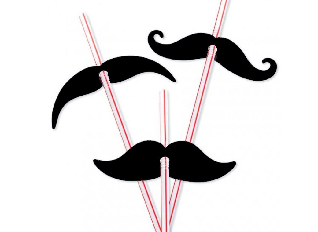 Moustache Madness - Party Straws 12pk