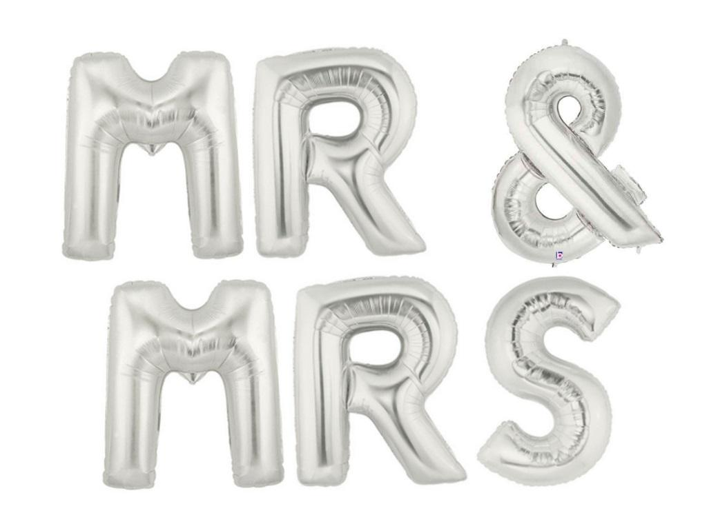 Megaloon Silver - Mr & Mrs
