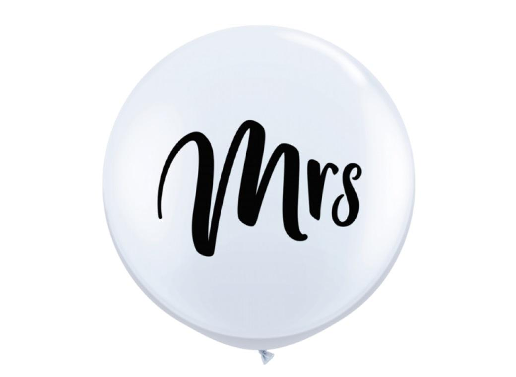 Jumbo Balloon - Mrs