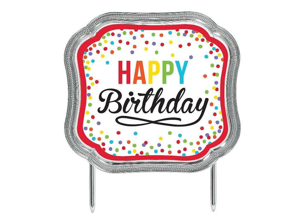 Multicolour Happy Birthday Cake Topper