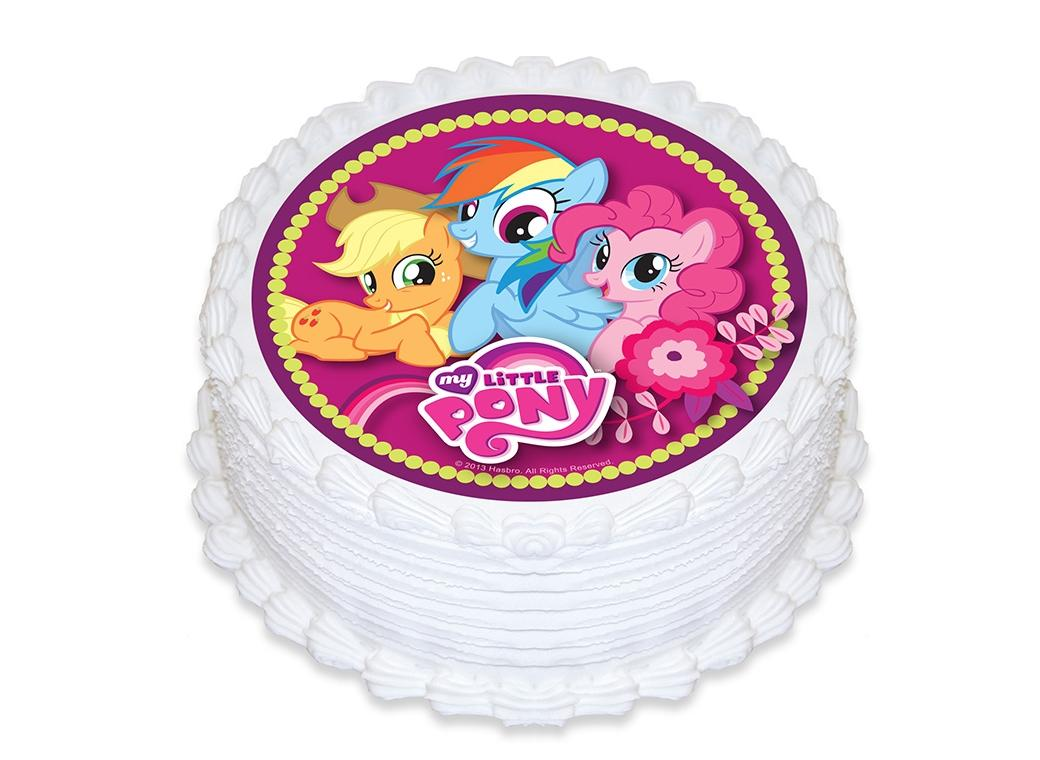Edible Icing Image - My Little Pony Round