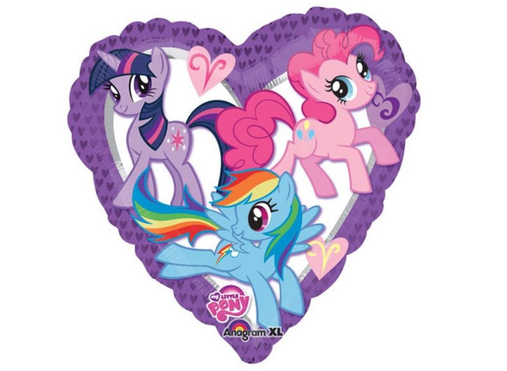 My Little Pony Heart Foil Balloon