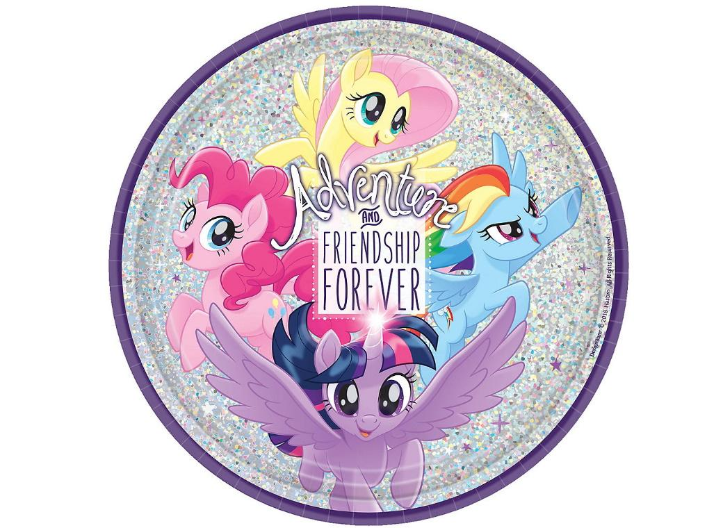 My Little Pony Holographic Dinner Plates 8pk