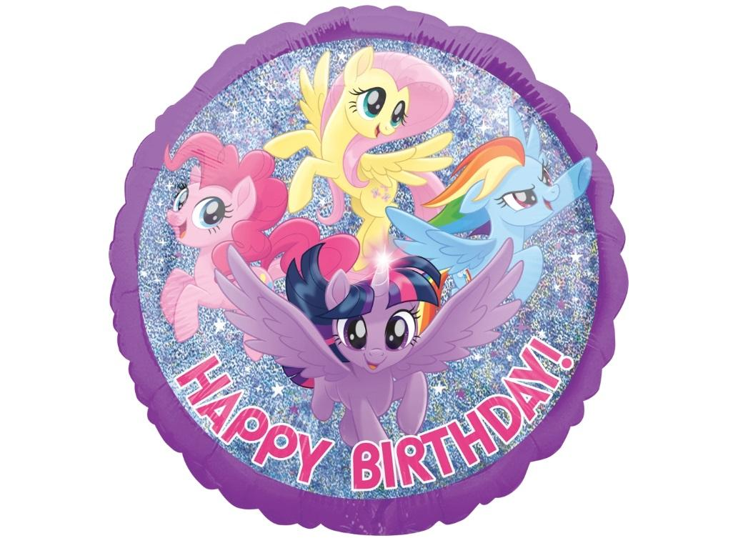 My Little Pony Holographic Birthday Foil Balloon