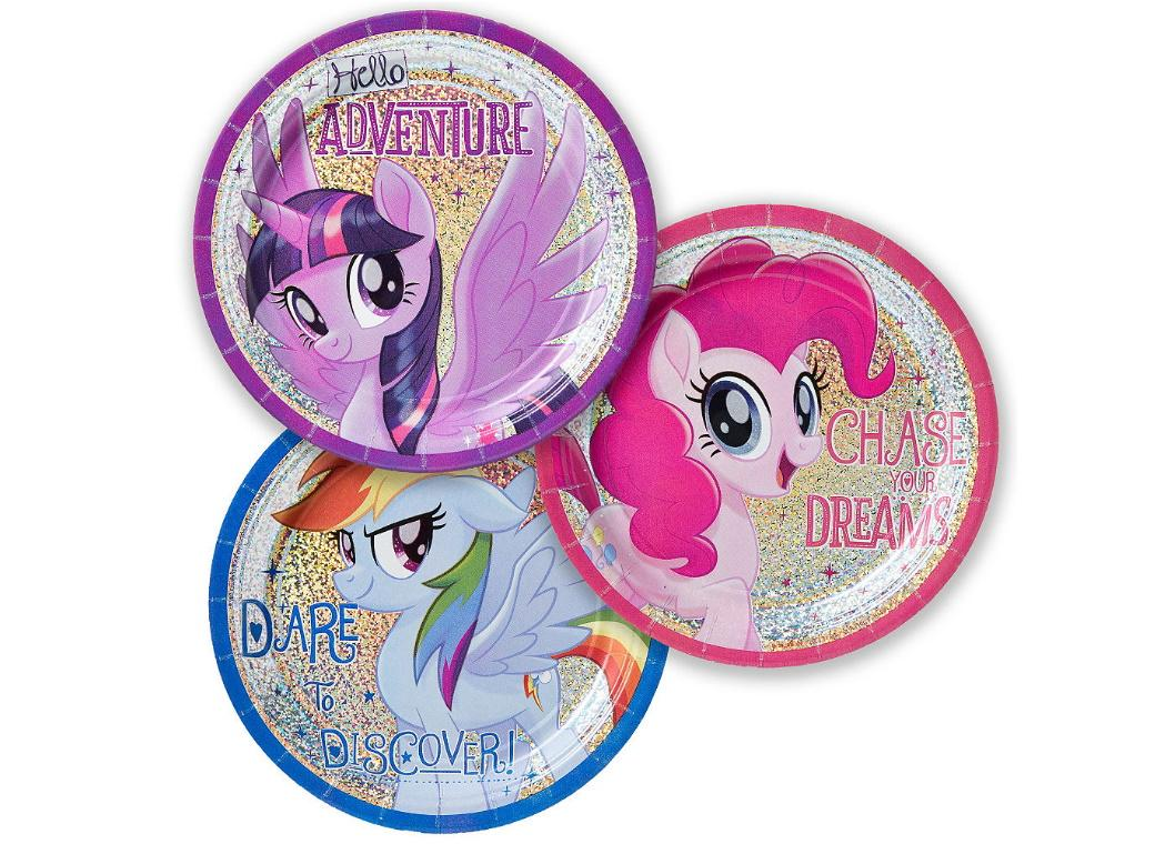 My Little Pony Holographic Lunch Plates 8pk