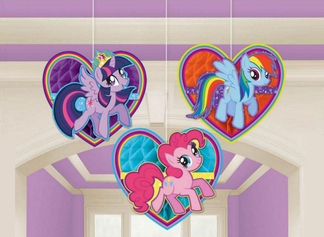 My Little Pony Hanging Honeycomb Decorations