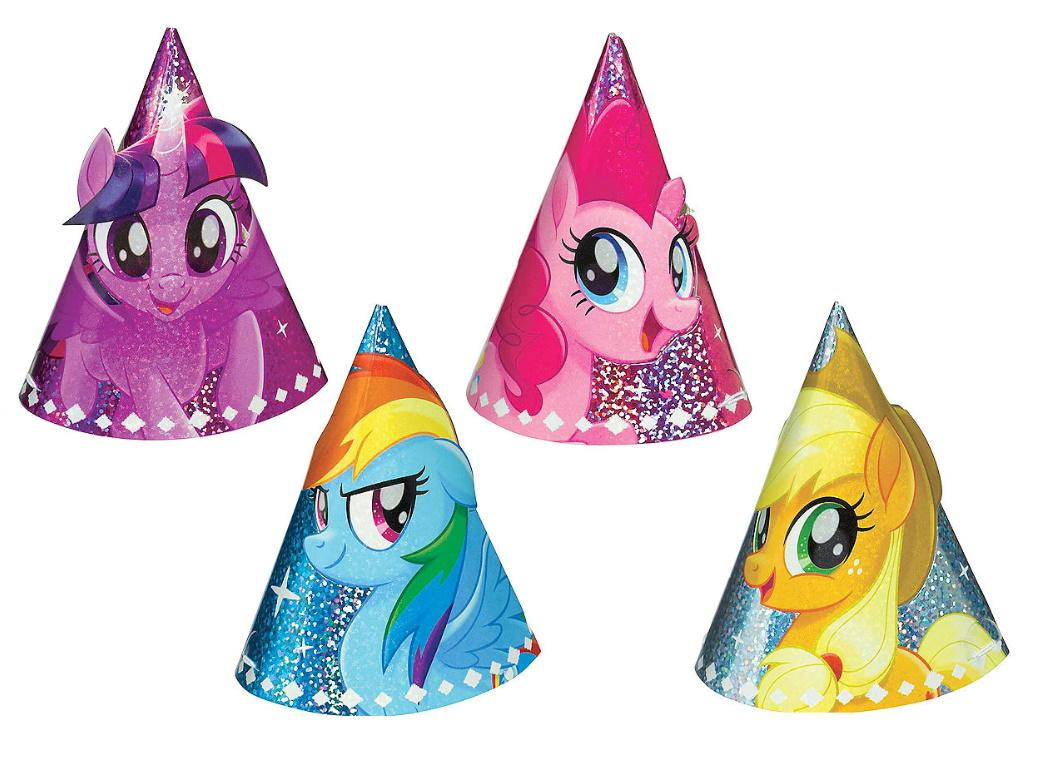 My Little Pony Mini Party Hats 8pk