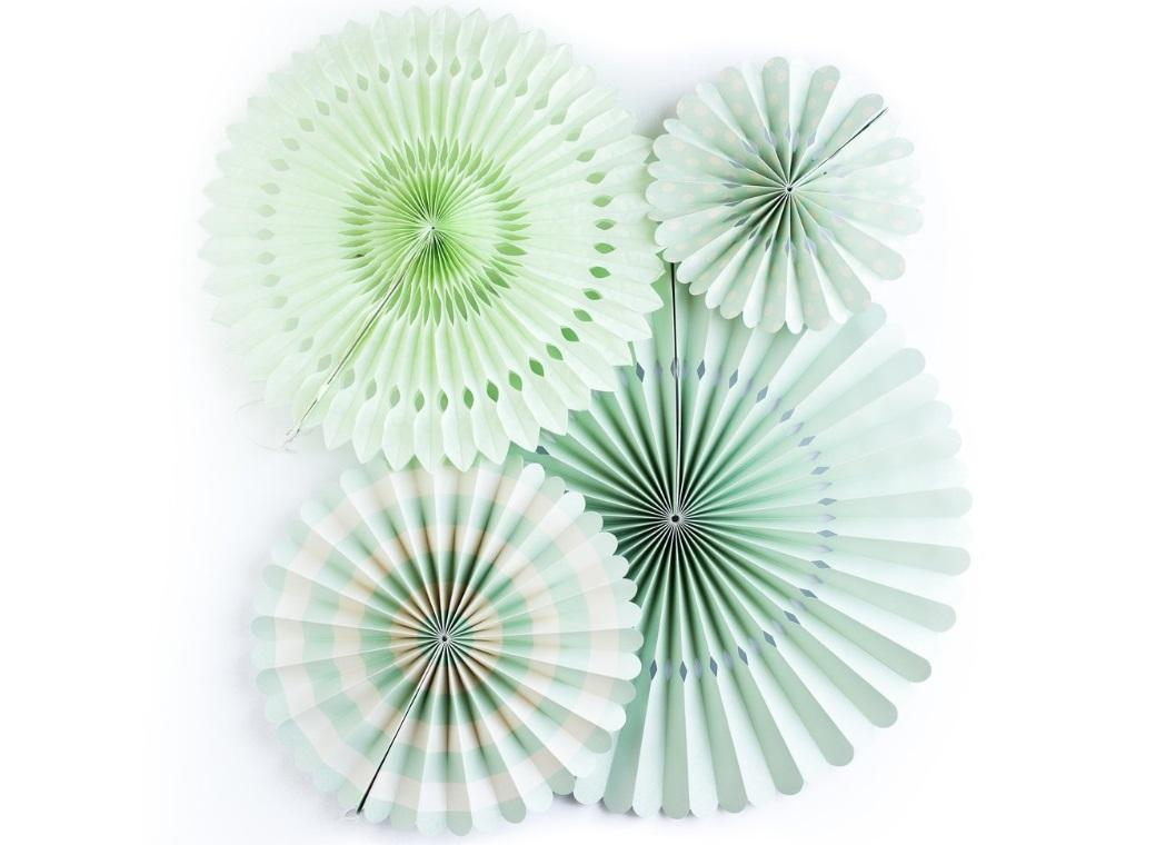 My Minds Eye Party Fans - Mint
