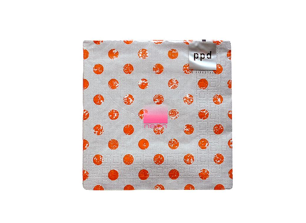 Fashion Dots Napkins Orange - 20pk