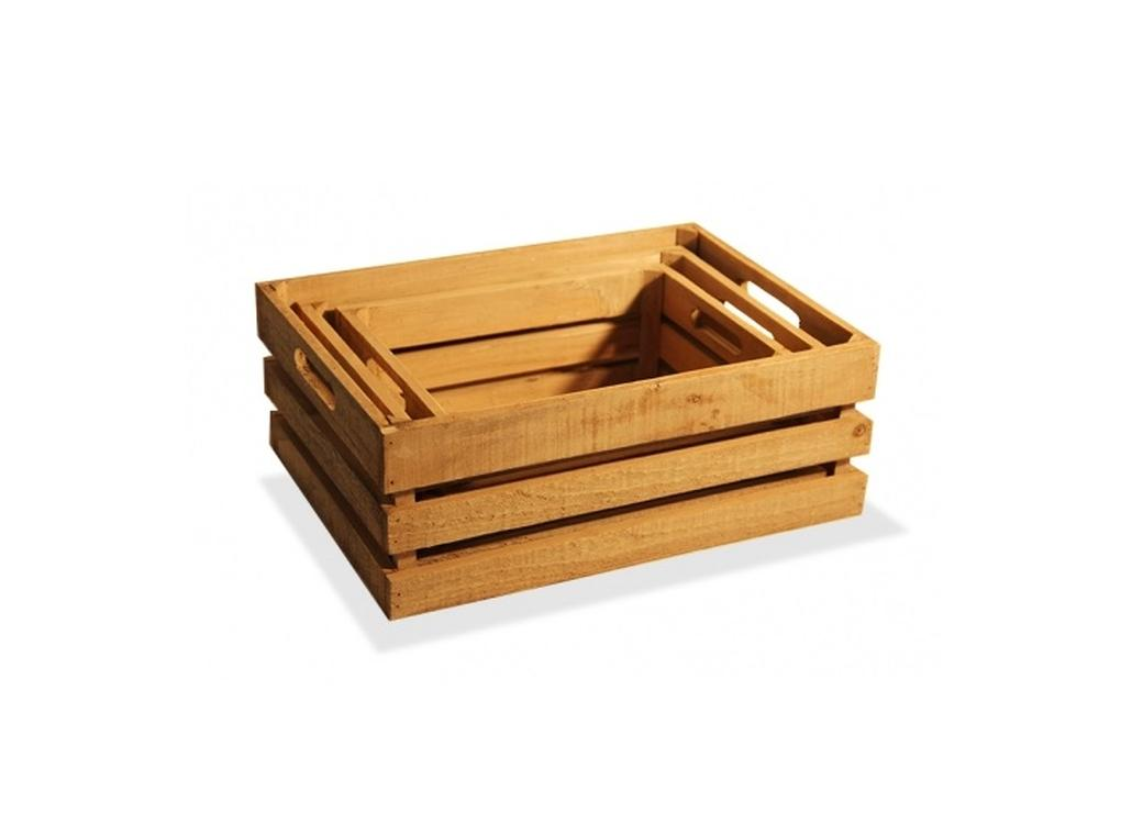 Natural Wooden Crates - 4 Sizes