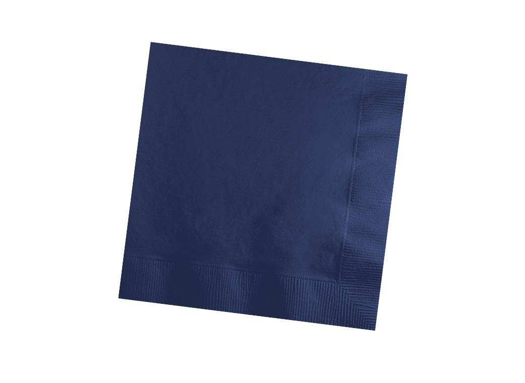 Navy Blue Beverage Napkins 50pk