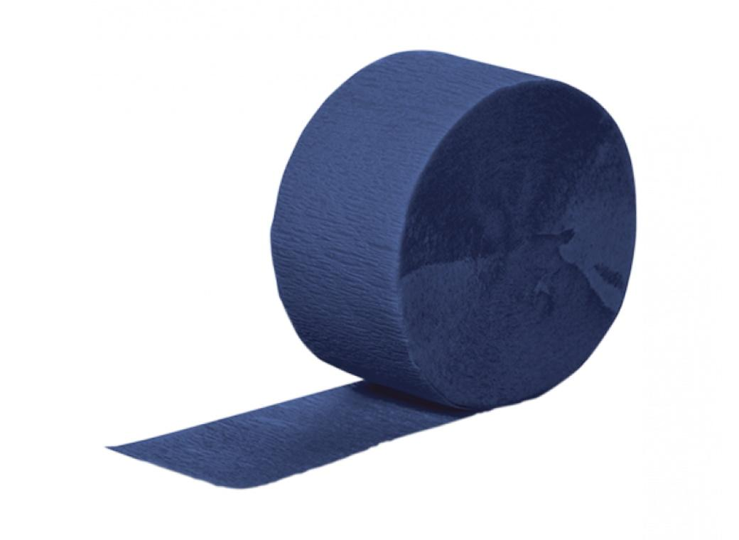 Crepe Paper Streamer - Navy Blue