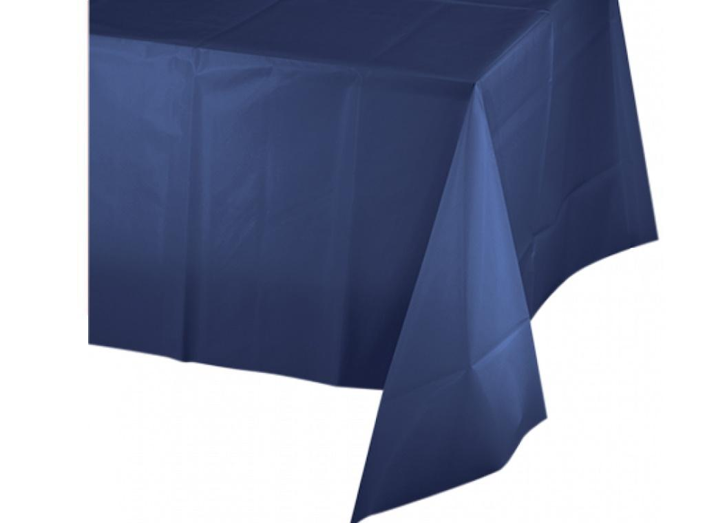 Navy Blue Plastic Table Cloth