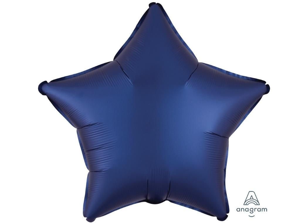 Star Shaped Foil Balloon - Satin Luxe Navy